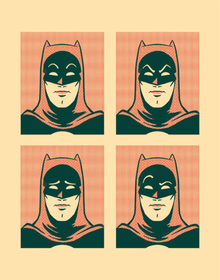 Emotions. My favourite thing about 60s Batman is that they drew his eyebrows on the cowl.