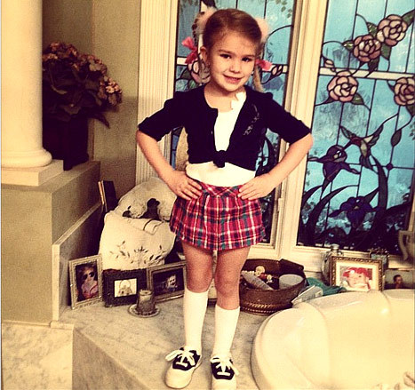 "Jamie Lynn Spears shared a photo of her daughter, Maddie, dressed up for a school ""Celebrity Day"" as her Aunt Britney. Oy. Not only is Britney's ""Baby, One More Time"" outfit age-inappropriate for anyone under six, but there are so many better celebrities to emulate. Meryl Streep would have been a fine choice for Maddie, or Dame Julie Andrews, or Hillary Clinton. Also, none of these would have required wearing fluffy ponytail holders, which have never been and will never be okay."