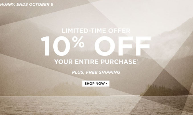 A great excuse to refresh your fall wardrobe. Use code FALL10 to save 10% off your entire purchase. Hurry, offer ends Monday, October 8: http://bit.ly/RAqPXE