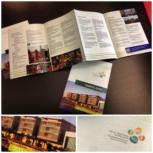 ووصلت البروشورات الجديدة 😁   Aaand the new brochures are here   #brochure #design #تصميم  (Taken with Instagram)