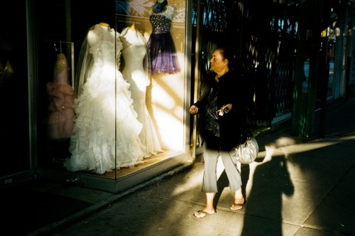 wedding dress. (35mm film)
