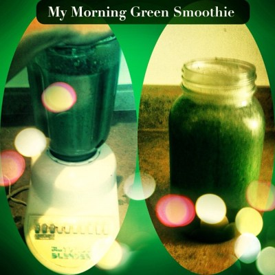 My #morning #green #smoothie from my #GArdeN - #healthy #organic #delicious #nutritious #eatfresh #eatCLEAN. Does anyone have good #smoothie #ingredient #recommendations ?  (Taken with Instagram at Secret Garden)