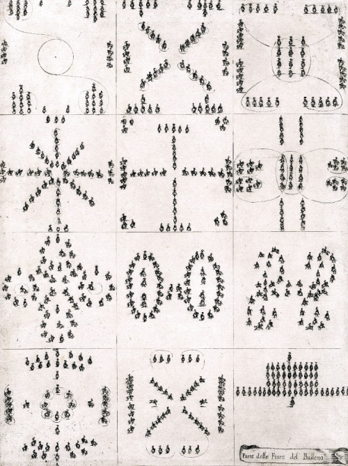 Pattern! Stefano della Bella - Figures from the horse ballet (1652).