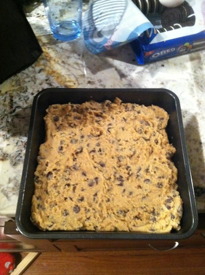 Also, I finally gave in to curiosity and made slutty brownies. Brownies on top of Oreos on top of chocolate chip cookies. Pretty dang tasty. However, I used mixes for the brownies and chocolate chip cookies. The brownie part was fine, but the CC cookies were not as great. If I do them again, I'd try to make everything from scratch. C+ for slutty brownies.