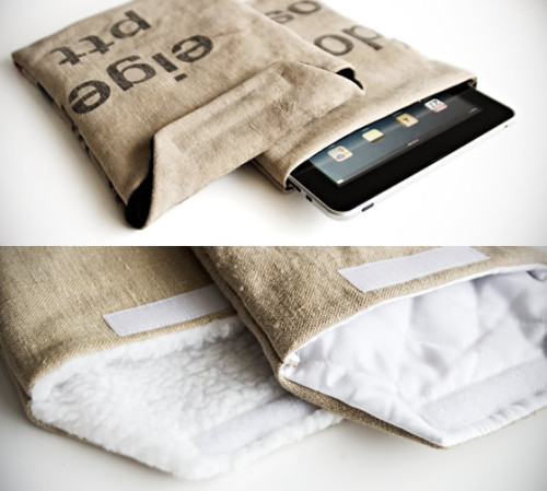 Dutch mailbags transformed into stylish and secure device cases. Made in Holland by Bliinq. Upcycling that deserves some iPlause (get it?). - Team Forrage