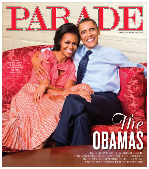 Happy 20th wedding anniversary to Michelle and Barack Obama! Parade magazine, September 2, 2012Design director: Richard Baker