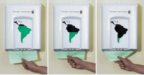 Simple, clever ad from the World Wildlife Fund.