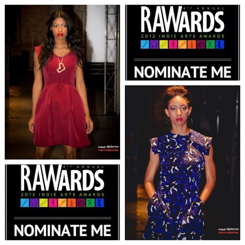 Go to rawartists.org/trywesley and vote for me to be a Chicago semifinalist #artistoftheyear #rawards #rawartists #fashiondesigner #shamelessplug #vote #voteforme #iwanttowin #Chicago (Taken with Instagram)