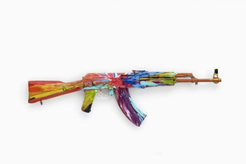 "Damien Hirst ""Spin AK47"" For Peace Day"
