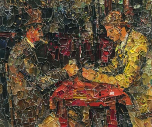 Vik Muniz, The Card Players, after Cezanne, 2012.
