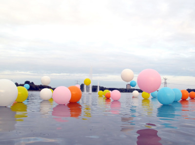 Bubblegum Installation  - Merijn Hos in collaboration with Renee Rejinders. Netherlands, 2010