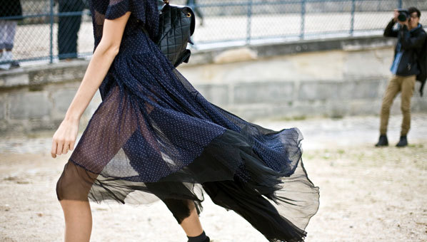 "You can go sheer anywhere this fall. And we know how to do it without freezing your ""assets"" off.  Would you dare wear this trend?"