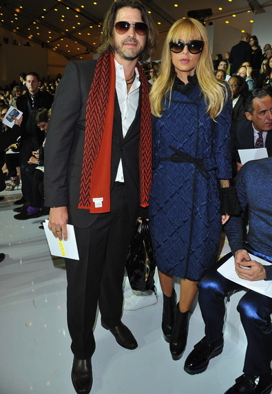 Stylist/Designer Rachel Zoe and hubby Rodger Berman at the Louis Vuitton show in Paris