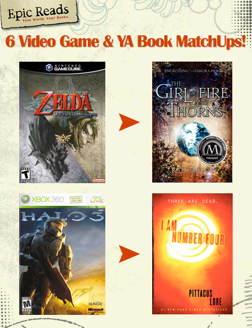 6 video game to YA book matchups we recommend. View them all here!