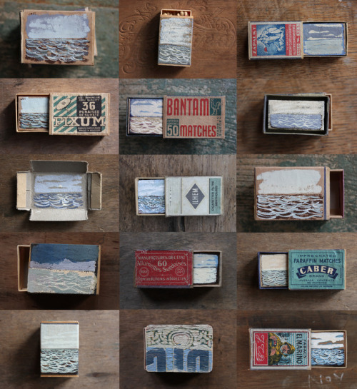 cartwheelgalaxy:  Gathered Seconds I (Matchbox Seascapes 2011 - 2012) by David Cass (LOVE!)