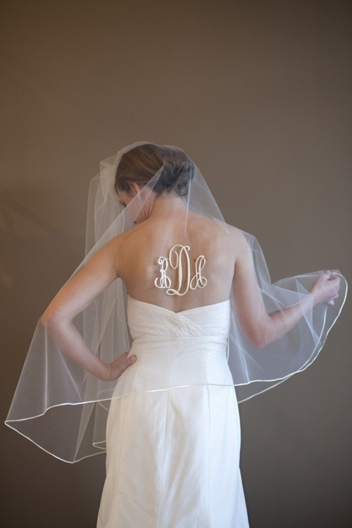 Wow, this is interesting. What do you think? Yes or No to Monograms at Weddings..