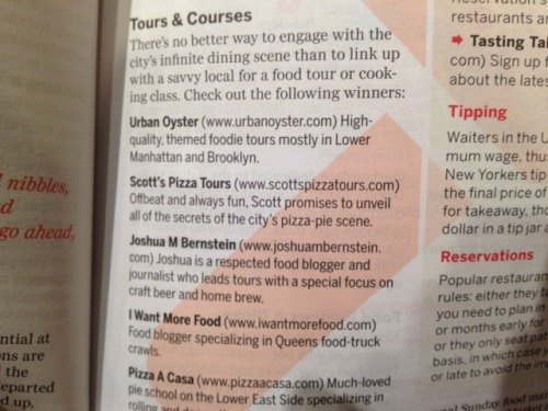 SPT scored a sweet mention in the new 2013 edition of Lonely Planet New York! Even better is that we share the section with a bunch of friends!