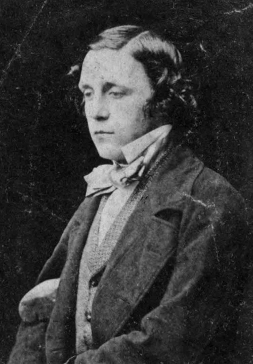 A younger, pre-clerical Charles Dodgson/Lewis Carroll (date and photographer?). This photograph shows just how handsome he was.