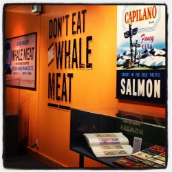 DON'T EAT THE WHALE MEAT CLOSES OCTOBER 14 The darling exhibit of the Maritime Museum will be closing October 14th. If you haven't had a chance to stop by, now's your chance!  VMM is open Tuesday-Saturday : 10am - 5pm and Sunday 12pm -5pm (Closed Monday). call 604-257-8300 for more info