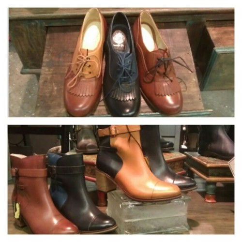 We have oxfords and boots by Samantha Pleet for Wolverine #boots #oxfords #shoes #wolverine #samanthapleet #abbadabbas #little5points #l5p  (Taken with Instagram)