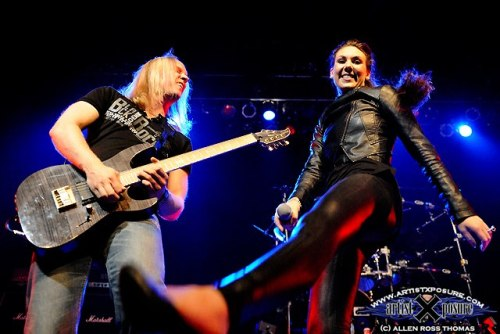 Elize Ryd Off. Page of Amaranthe USA debut and exclusive at ProgPower USA XIII in Atlanta Sept. 14, 2012