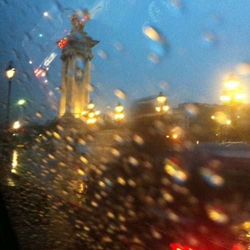 officialstyledotcom:  Paris when it drizzles. NP (Taken with Instagram)