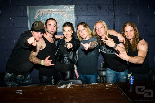 Amaranthe during autograph session at ProgPower USA XIII — with Elize Ryd and Olof Mörck at Center Stage.  Photo by Esa Ahola Photography