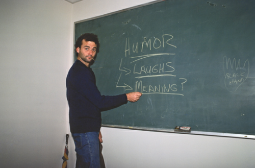 Bill Murray at the chalkboard  willbryantplz:  my kind of education.