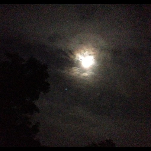 Crazy moon! (Taken with Instagram)