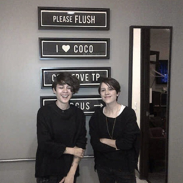 "teganandsara: Another reason we love @teamcoco!! ""Please Flush""! That's road rule #1! (Taken with Instagram)"