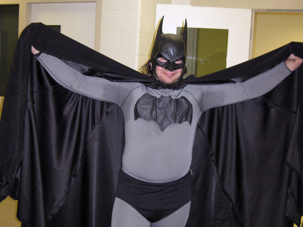 "'Petoskey Batman' arrested after refusing to clear crime scenePETOSKEY, Mich. — The search for a driver who fled an accident scene in northern Michigan over the weekend was apparently a job for a dog, not a bat. State troopers arrested 33-year-old Mark Wayne Williams because they say he refused to leave them alone after he showed up Saturday night wearing a Batman outfit. ""He wouldn't clear the scene, and we had a canine out there and he kept screwing up the scent,"" State Police Sgt. Jeff Gorno told the Petoskey News-Review. ""He said he wanted to help us look for the driver."" (AP Photo/Petoskey Department of Public Safety via Petoskey News-Review)"