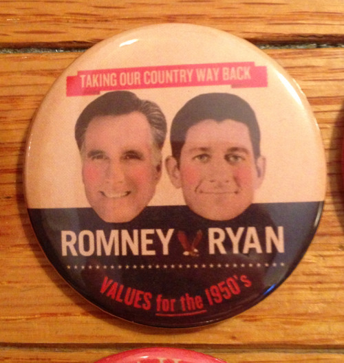 Hilarious 'Vintage' Romney/Ryan Campaign Poster And Buttons Available On eBay