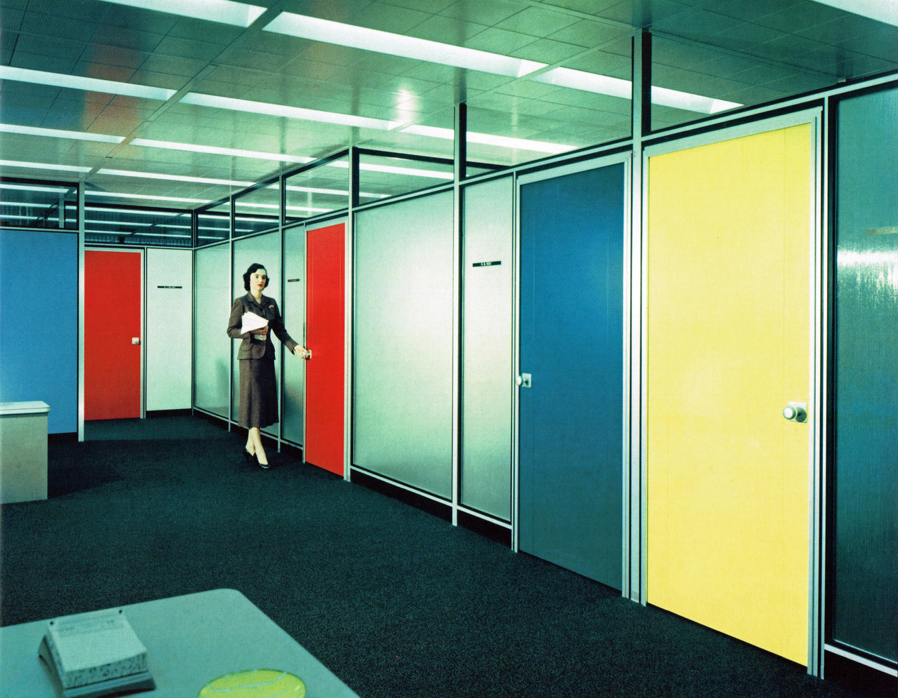 archimaps:  Inside the Inland Steel headquarters building, Chicago