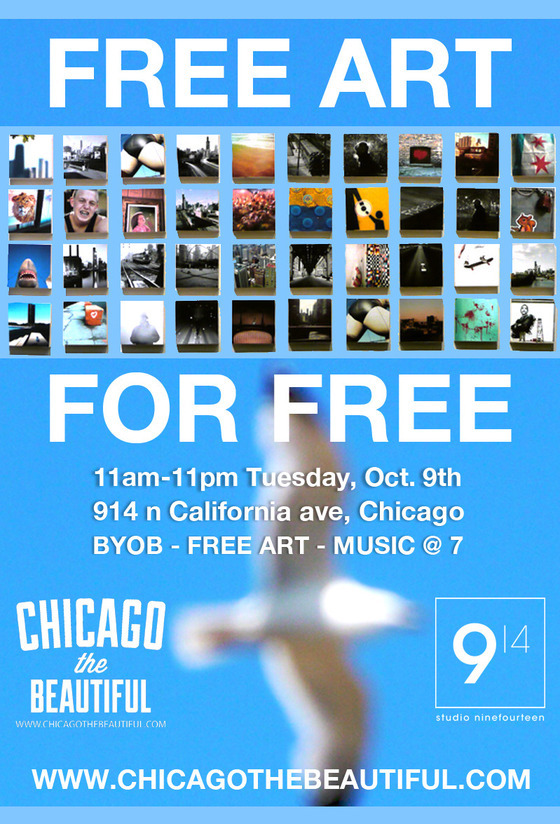 "Join Chicago's Free Art Machine for a day of ""free art, live music, and good people."" You like free stuff, right? More details in their latest project update."