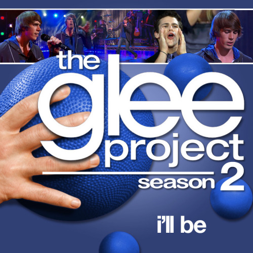 "lets-duet:  A Glee Project album cover (with Season 3 dodgeballs) for ""I'll Be"" by Edwin McCain, as sung by Blake Jenner, from Episode 2x11 ""Glee-ality"", in the style of the venerable Maxdume.  I LOVE THIS SHOW, SO MUCH :)"