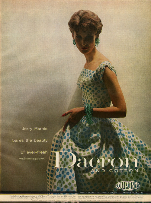 Dacron / Du Pont 1957 - Mary Jane Russell wearing Jerry Parnis