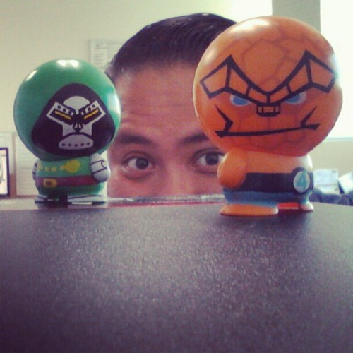 I got #muscle at #work . #marvelcomicbooks #marvel #comics #thing #bengrimm #drdoom #vondoom #fantastic4 #itsclobberintime  (Taken with Instagram)