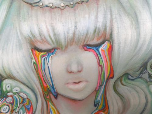 camilladerricoart:  Detail - Candy Escape Exhibition Painting