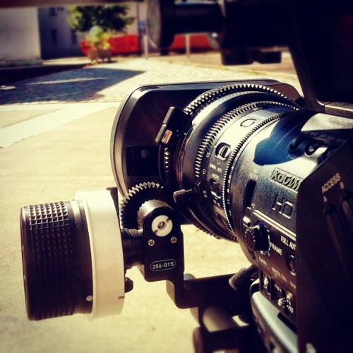 Another day at the office #sony #xdcam #ex3 #chrosziel #followfocus #gear #ring #camera #filming #rig #iphone4 #iphoneonly  (Taken with Instagram at Oesterreichische Banknoten- und Sicherheitsdruck GmbH)