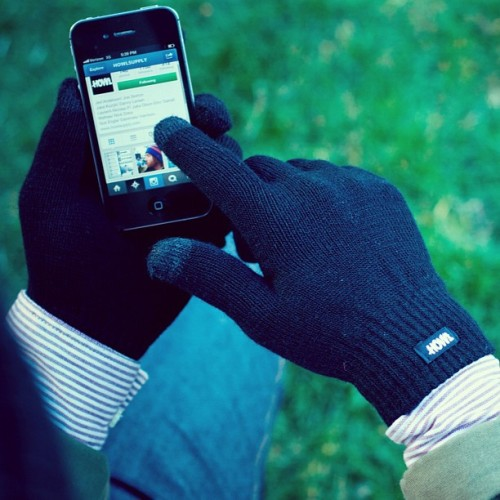 Go grab a pair of the smart phone compatible touch screen gloves. #gloves #iphoneglove (Taken with Instagram)