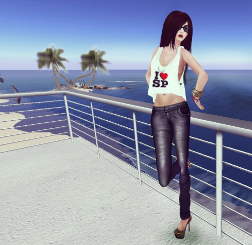 "OUTFIT OF THE DAY BLOG POST ! 03/10/2012 ""ULTIMATE CITY CHICK LOOK THATS WALLET FRIENDLY"" * Braclets: [Fairy Tail]Bracelets #1 * GLasses: Armonde / Versace Sunglasses (Liquid Ink) * Jeans: Phoenix Rising- Mona Pants (Grey) * Top: *.*Forbidden*.* MESH Loose Vest BRASIL SP * Shoes: N-core *Group Gift* Coquette Platform ""Wild Edition"" * Hair: TRUTH HAIR June -  dark browns * Skin: [Atomic] Grace Skin_Buff - Fall (TDR Exclusive) ( ONLY SOLD AT THE DRESSING ROOM - BLUE ) - Pure xxxxx"