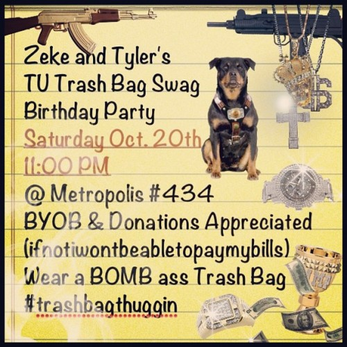 So I guess this is actually gonna happen? Lol #tu #trashbagthuggin #party #beer #drunk #imzeke #434trap  (Taken with Instagram)