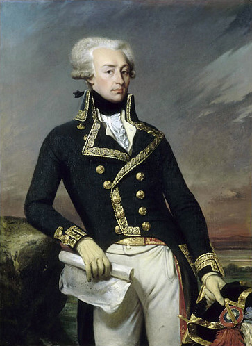 This is the Marquis de Lafayette (1757-1834)! He was born in France and orphaned when he was 12, but that didn't stop him. He joined the Royal Army when he was 14 and when he was 19 he defied the French king's orders and went to help in the American Revolution. Everyone loved him, even George Washington! After the war, he went back to France and played a role in the French Revolution as well.