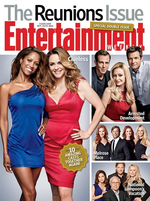 This week in EW: It's our annual Reunions Issue, featuring ten of your favorite TV and movie casts — everything from The Larry Sanders Show to Breaking Away. To top it off, fans of Arrested Development, Melrose Place, and Clueless can celebrate their pop-culture favorites with special collector's edition covers, which are available to buy individually.