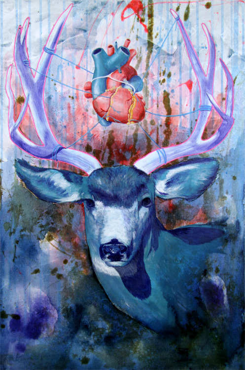 "cardiac-art:  ""Deer"" by Francis Kmiecik"
