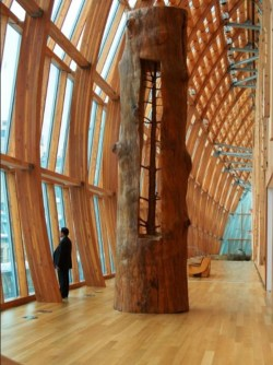 thedailywhat:  Holy Schnikes! of the Day: Artist Giuseppe Penone removes the growth rings on trees to reveal what they looked like in their youth. No big deal. [thanks, alison!]