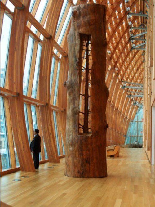 thedailywhat:  Artist Giuseppe Penone removes the growth rings on trees to reveal what they looked like in their youth. [thanks, alison!]