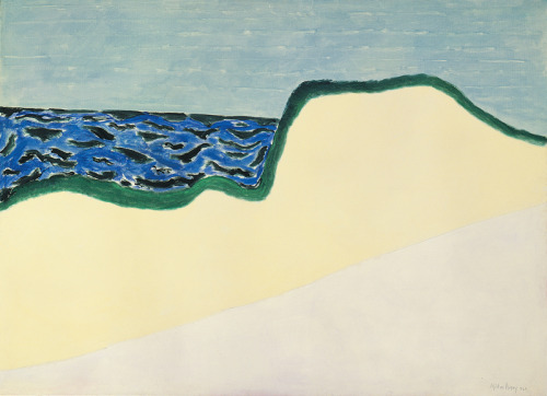 Milton Avery, Dunes and Sea II, Oil on canvas, 51 7/8 × 72 in. (131.8 × 182.9 cm). Whitney Museum of American Art, New York; 50th Anniversary Gift of Sally Avery