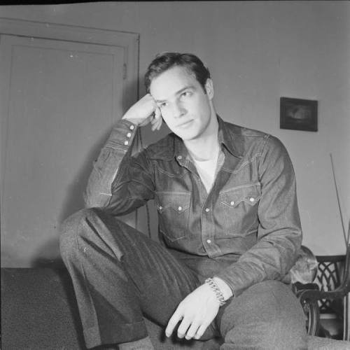 marlon brando wears denim