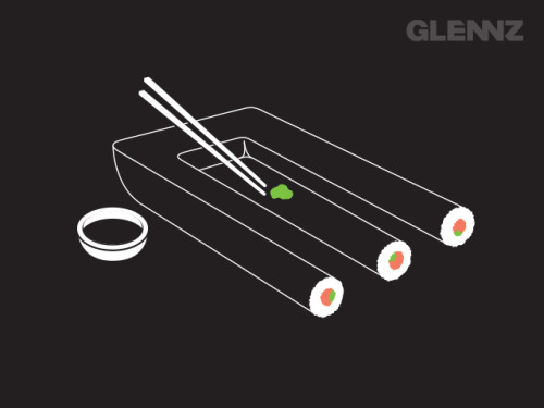 glennz:  Impossible Sushi - Now Voting Visit Glennz Tees  | Twitter  | Facebook  | Flickr  | Behance  | Dribbble
